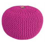NODO DESIGN - Pouf rivestito in maglia di cotone Fuxia