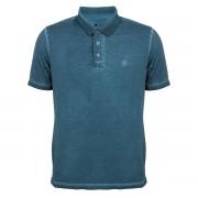 Camisa Polo Seeder Meia Malha Azul Escuro