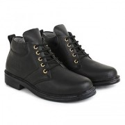 Buwch Men Black Synthetic Leather Boots