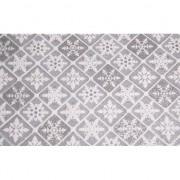 Bellatio Decorations Zilveren tafelloper ruit met glitters 30 x 270 cm