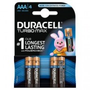 Baterii Duracell alcaline Turbo Max AAA R3 1.5V 4 bucati blister