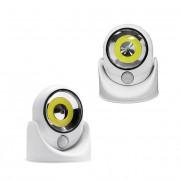 Hordozható COB 360 LED-es lámpa mozgásérzékelővel