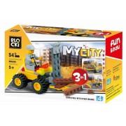 Joc constructie, My City, Stivuitor 3:1, 54 piese Blocki