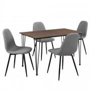 PremiumXL - [en.casa] Elegantan design blagovaonski stol sa (hairpin leg) nogarima - sa 4 design stolice