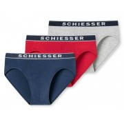 Schiesser Rio-Slips 95/5 3-pack - Rood - Size: Extra Large