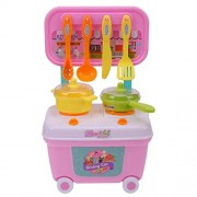Vivir Dining Car Cooking Kitchen Set Toys for Kids (3 Year, Multicolour, Small)