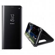 Husa Telefon Samsung Galaxy A41 - Flip Mirror Stand Clear View Negru