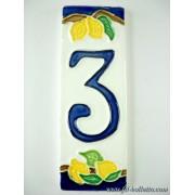 Numero civico ceramica con limoni nl3
