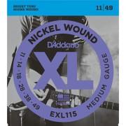 D'Addario EXL115 Nickel Wound .011-049 Cuerdas guitarra eléctr.