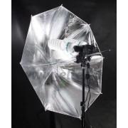 Zestaw oświetleniowy 2x600W + 400W parasol srebrny 230cm Z113