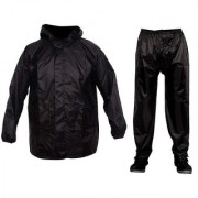 HMS Men waterproof Polyester Rain suit top and Bottom set for Two wheelers/bikers