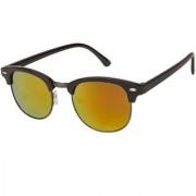 Arzonai Clubmaster Wayfarer Black-Orange UV Protection Sunglasses For Men & Women |MA-094-S24|