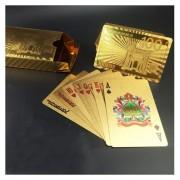 Creativo Plastico Frosted Golden 100 Euro De Nuevo La Textura De Las Vegas A Macao Naipes De Poker Texas