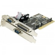 Carte PCI 2 ports serie DB9+1 port parallèle Chipset NetMos