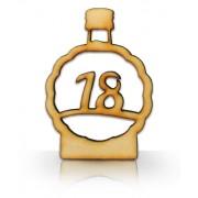Drevená fľaša s číslom