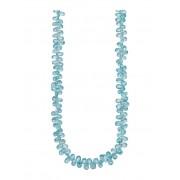 Diemer Farbstein Halskette aus Zirkonen, blau