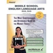 Praxis Middle School English Language Arts 0049, 5049 Teacher Certification Study Guide Test Prep, Paperback/Sharon A. Wynne