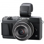 Olympus 16MP PEN? E-P5 Axis Image Camera With VF-4 Electronic Viewfinder - Black