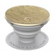PopSockets Ausziehbarer Sockel und Griff für Handys und Tablets - Saffiano Gold