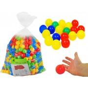 Set 100 Bile Colorate pentru Joaca sau pentru Piscine Copii, Multicolore, Diametru Bila 6cm