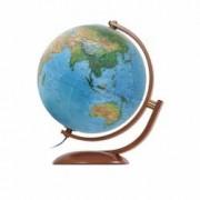 Glob Geografic Iluminat Maximus Diametru 37cm Harta Fizica si Politica Rotire cu 2 Axe