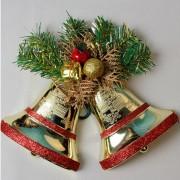 Doble Campanas de Navidad Decoración de Árbol de Navidad Ornamentos de Campana Colgante