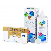 CooperVision Frequency 55 Aspheric (6 lentes) + Solução Gelone 360 ml