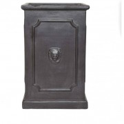 The Pot Co Clayfibre Tall Lion Head Square Planter Available in 3 Sizes