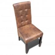 vidaXL Eetkamerstoelen 4 st kunstleer bruin