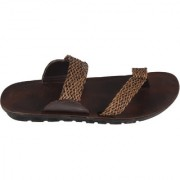STYLE HEIGHT Men's Brown Slippers
