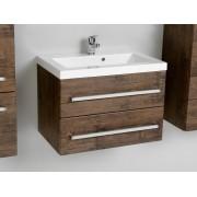 Antado Spektra szafka z umywalką, wisząca 60x39x40 stare drewno 656406/638815