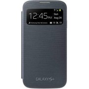 Samsung Custodia per Galaxy S4 I9500 Cover S View a Libro Originale Nero in Bulk