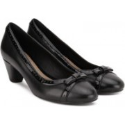 Clarks Denny Dream Black Combi Lea Formal Shoe For Women(Black)