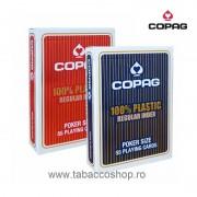 Carti de joc Copag 100% Plastic Regular Index Blue