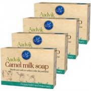 Combo of 4 Aadvik Camel Milk Soap with ( Peppermint Rosemary ) Essential Oil 100 g x 4 400 gms.