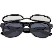 Freaky Glasses® | Flipstyle spacebril zwart | zonnebril met effect