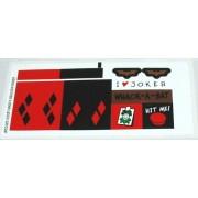 "Lego Original Sticker Sheet for Batman Set #7886 ""The Batcycle: Harley Quinn's Hammer Truck"""