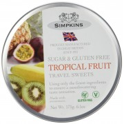 Simpkins Sugar & Gluten Free Tropical Fruit Travel Sweets Gift Tin