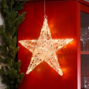 Five-pointed acrylic star Ingar with LEDs