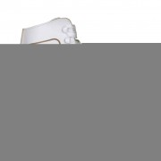 Nijdam Patins patinagem art. clássicos mulher, couro, 38, 0043-WIT-38