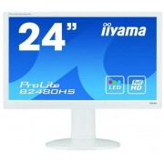 "Monitor TN LED iiyama ProLite 23.6"" B2480HS-W2, Full HD (1920 x 1080), HDMI, DVI, 2 ms, Boxe 2 x 2W (Alb)"