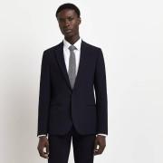 river island Mens Navy single breasted super skinny suit jacket (44L)