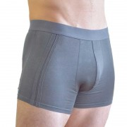 Buddha Boxers Sustainable Comfortable Minimal Trunk Underwear Grey