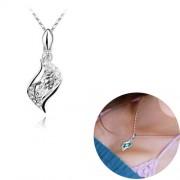 Swarovski náhrdelník slza - biela