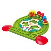 Hape Kids Wooden Railway Puzzle Track Play Set