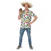 Deguisetoi Chemise à motif ananas homme - Taille: M / L