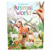 Dierenwereld stickerboek deluxe voor jongens