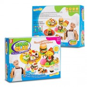 Play Baby Toys DIY Super Soft Clay Collection, Variety Pack - Food World - Create All Kinds of Yummy Foods