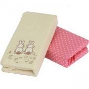 Комплект чаршафи Joy line, toTs, розови зайчета сатен, 011220