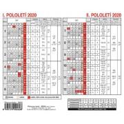 Plánovací karta A5 kalendář BKA0
